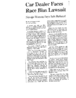 Car Dealer Faces Race Bias Lawsuit (Albuquerque Journal, February 25, 2000)