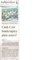 Cash Cow Bankruptcy Plan Sours (Gallup Independent, November 30, 2016)