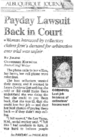 Payday Lawsuit Back in Court (Albuquerque Journal, May 13, 2008)