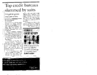 Top Credit Bureaus Slammed by Suits (The National Law Journal, August 14, 2006)